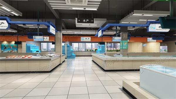 官田农贸市场设计水产区效果图―一鸿市场研究中心