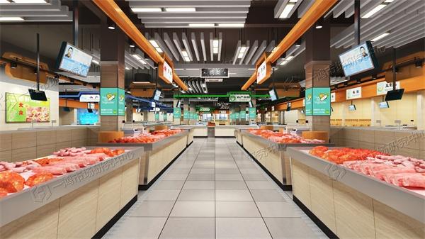 官田农贸市场设计肉类区效果图―一鸿市场研究中心