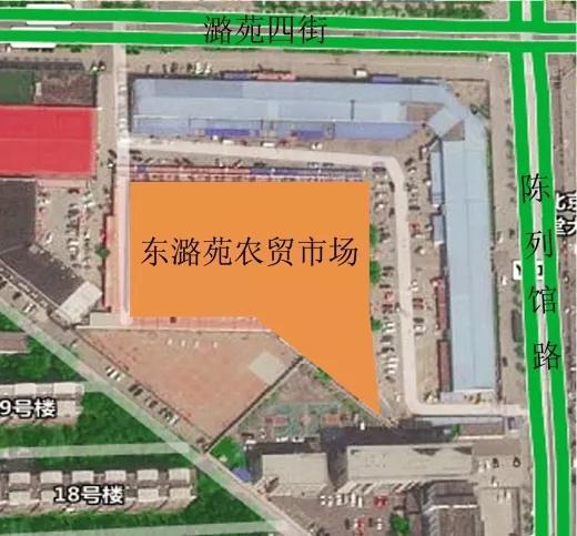 北京东潞苑农贸市场平面布局—一鸿市场研究中心