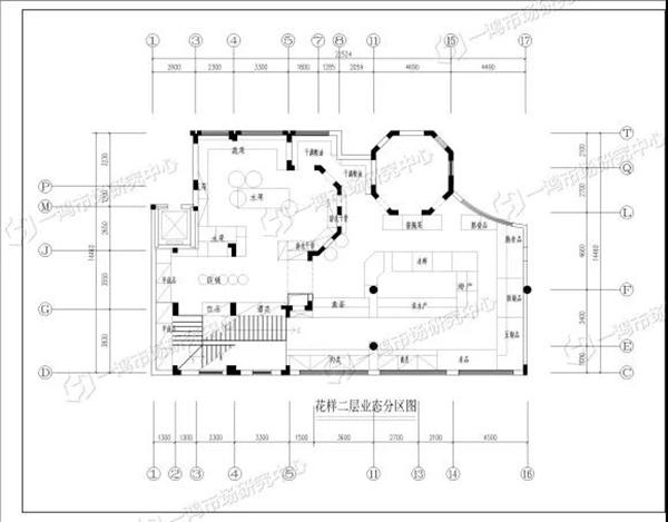 杭州花样菜场二层业态分区图—一鸿