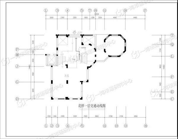 杭州花样菜场一层交通动线图—一鸿