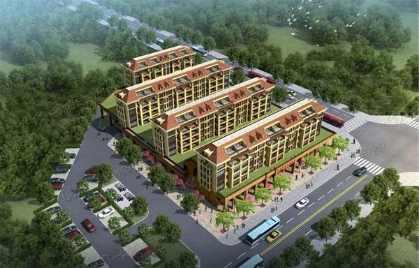 镇北农贸市场建筑效果图—一鸿市场研究中心