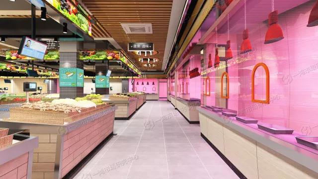 淮北现代农贸市场室内设计效果图—一鸿