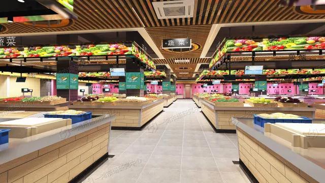 安徽淮北现代农贸市场蔬菜摊位设计