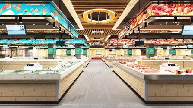 安徽淮北现代农贸市场肉类摊位设计