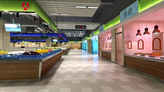 里村农贸市场改造设计效果图— 一鸿市场研究中心