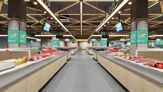 农贸市场效果图设计— 一鸿市场研究中心