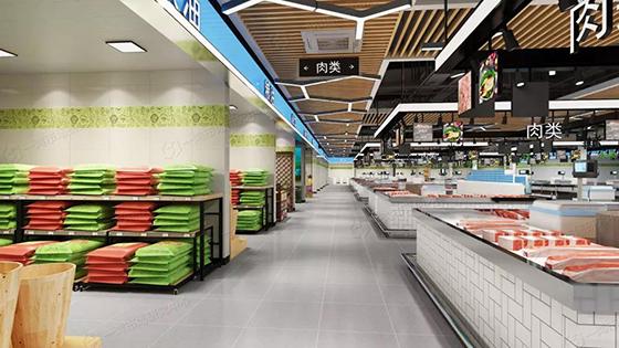 北京道尔泰菜市场改造设计效果图— 一鸿市场研究中心