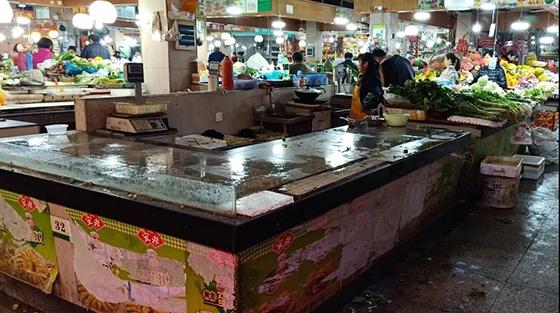 杭州朝晖六区农贸市场改造设计前