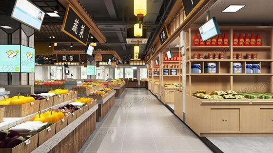 滨康农贸市场蔬菜区设计— 杭州一鸿市场研究中心
