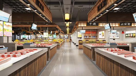 滨康农贸市场肉类区设计— 杭州一鸿市场研究中心
