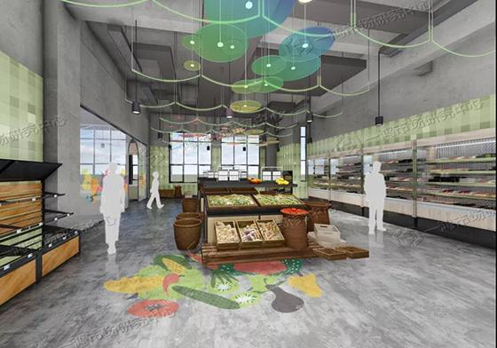 杭州彩虹农贸市场设计效果图— 一鸿市场研究中心