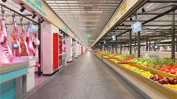 北京八里桥农贸市场效果图设计— 杭州一鸿