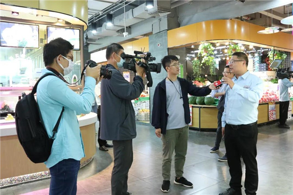 杭州彩虹农贸市场媒体采访— 一鸿