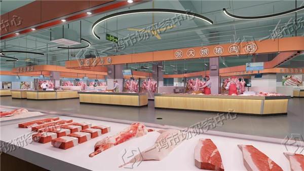 安徽西商农贸市场设计效果图— 杭州一鸿市场研究中心