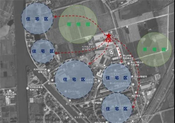 萧山所前天乐商贸中心位置— 杭州一鸿农贸市场设计院