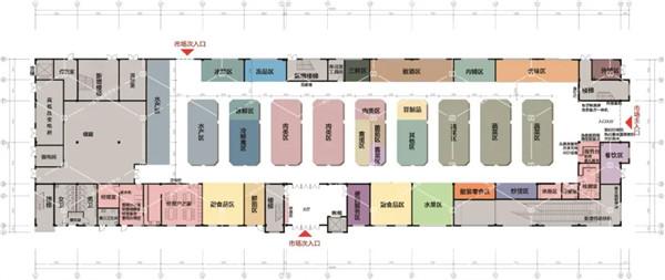 萧山所前天乐商贸中心一层农贸市场— 杭州一鸿农贸市场设计院