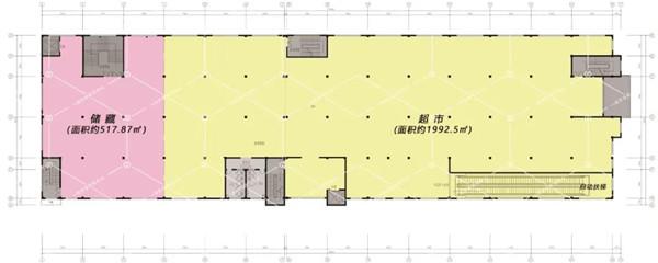 萧山所前天乐商贸中心二层生活超市— 杭州一鸿农贸市场设计院