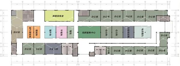 萧山所前天乐商贸中心三层社区活动中心— 杭州一鸿农贸市场设计院
