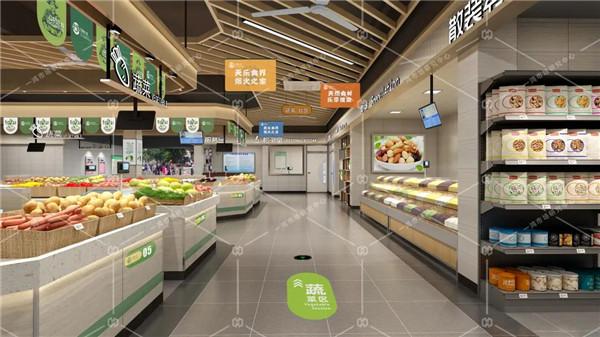萧山所前天乐商贸中心农贸市场改造设计效果图— 杭州一鸿农贸市场设计院